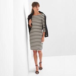 Gap Stripe Modern Tee Boatneck Dress (Long/Tall)